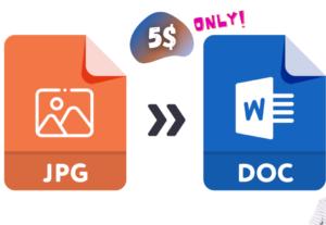 250496I will convert jpg to doc