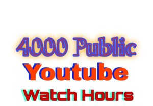 319482I will complete 4000 watch hours for youtube channel monetization