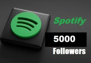 316856Get 5000+ Spotify Artist or playlist Followers,High Quality