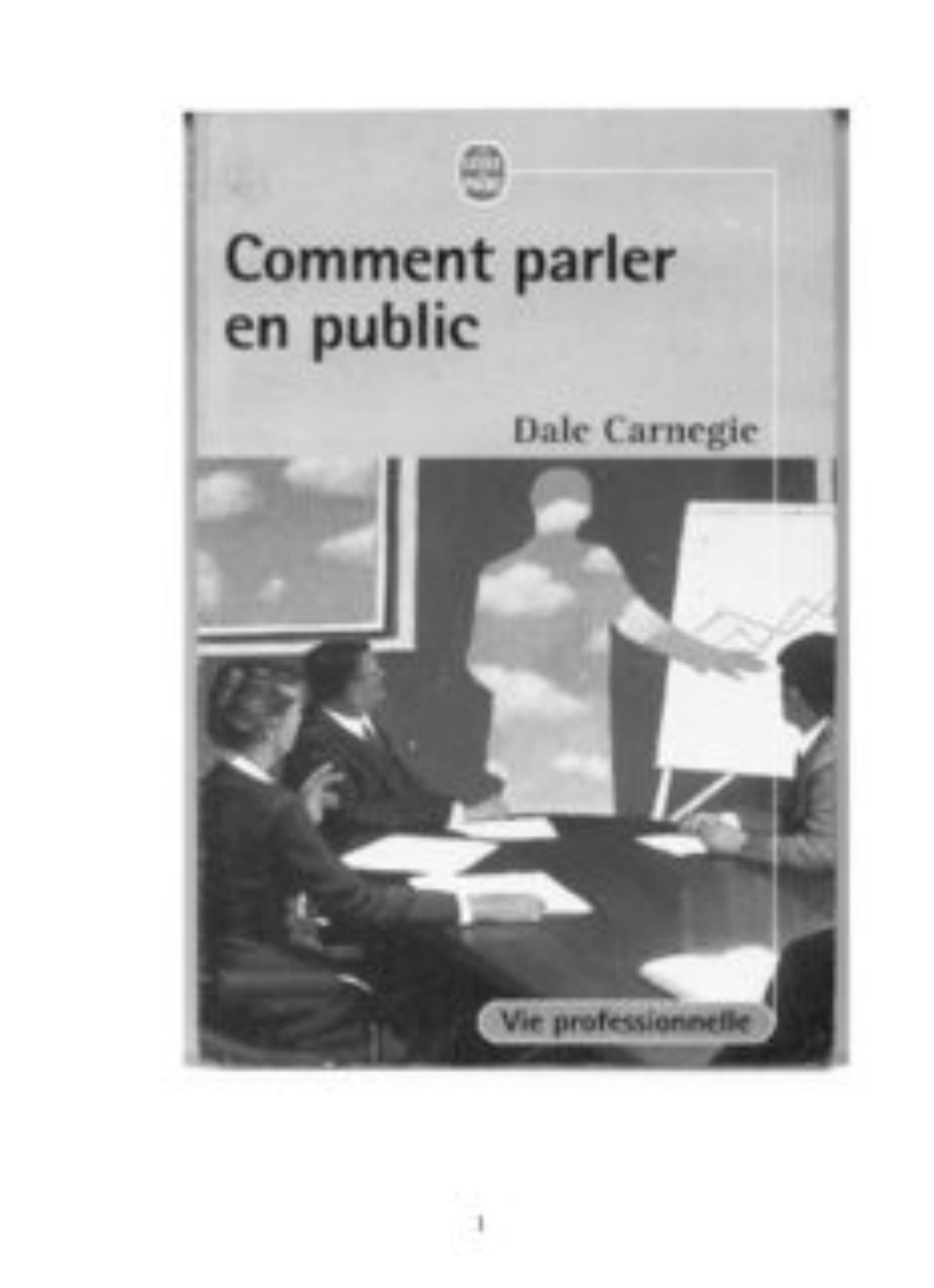 319768Je peux vous fournir un document pour  parler en public avec succès