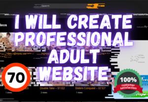 337335I Will Create Professional Adult Website